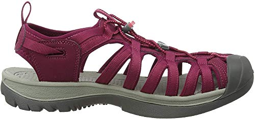 KEEN Damen Whisper Sandalen Trekking- & Wanderschuhe, Rot (Beet Red/Honeysuckle Beet Red/Honeysuckle), 35 EU