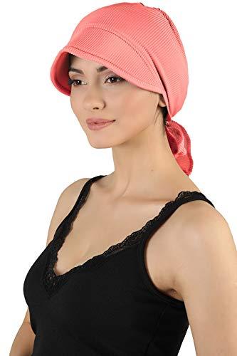 Deresina Headwear Hübscher Hut Mit Rückbinde Fur Haarverlust (Pastell orange)