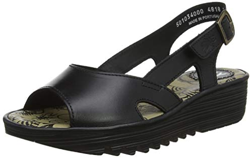 Fly London Damen Edon034fly Slingback Sandalen, Schwarz (Black 000), 39 EU