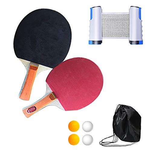 Read About YZU Table Tennis Set, Ping Pong Set, Instant Retractable Rack Accessory Portable, Ping Po...