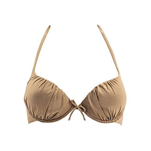 Goldenpoint Reggiseno Bikini con Ferretto - Dark Sand