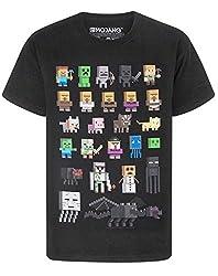 T-SHIRT DA BAMBINO MINECRAFT - La maglietta Minecraft Sprites ha maniche corte e un girocollo elegante per i bambini; è il regalo perfetto per tutti i fan del popolare videogioco Mojang, Minecraft! DISPONIBILE IN VARIETÀ DI TAGLIE - Questa maglietta ...