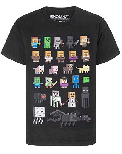 Minecraft Jungen Minecraft kurzärmligen T-Shirt Schwarz T-Shirt (5-6 Years)