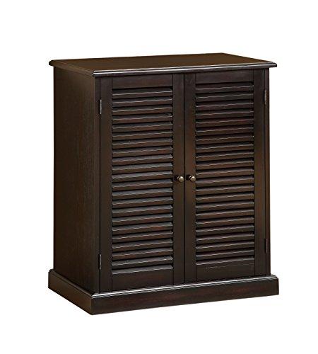 Furniture of America Laires 5-Shelf Enclosed Shoe Cabinet, Espresso