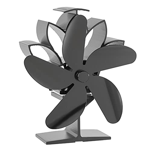 MERIGLARE Ventilador de Estufa con Calor Quemador de Leña Chimenea Circulación de Aire con Calefacción Silenciosa