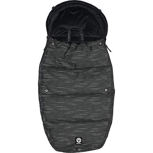 Dooky Footmuff Matrix Large Baby Sac pour poussette et siège auto (6-36 mois, hiver, résistant à l'eau et au vent, pour harnais 3 et 5 points), Noir