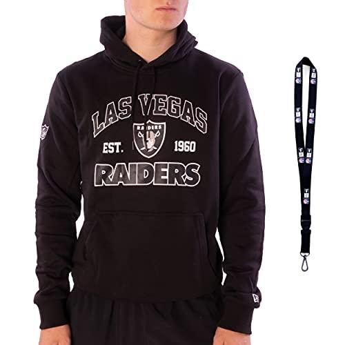 New Era Hoodie Pullover Kapuzenpullover - Football NFL Basketball NBA Baseball MLB Team - Limited Schlüsselband - Fanartikel Sportartikel (Las Vegas Raiders Black, 3XL)