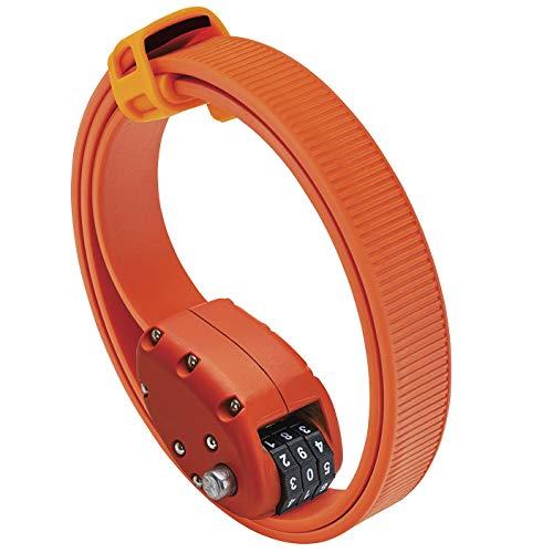 OTTOLOCK Stahl & Kevlar Zahlen-Fahrradschloss | Verschiedene Längen Leicht, Kompakt, Sicher, Beständig | Ideal für Radfahrer und Sportequipment Orange 46cm