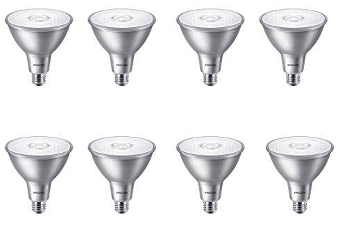 Philips LED Indoor/Outdoor Classic Glass Non-Dimmable PAR38 40-Degree Flood Light Bulb: 850-Lumen, 3000-Kelvin, 11-Watt (90-Watt Equivalent), E26 Base, Bright White, 8-Pack