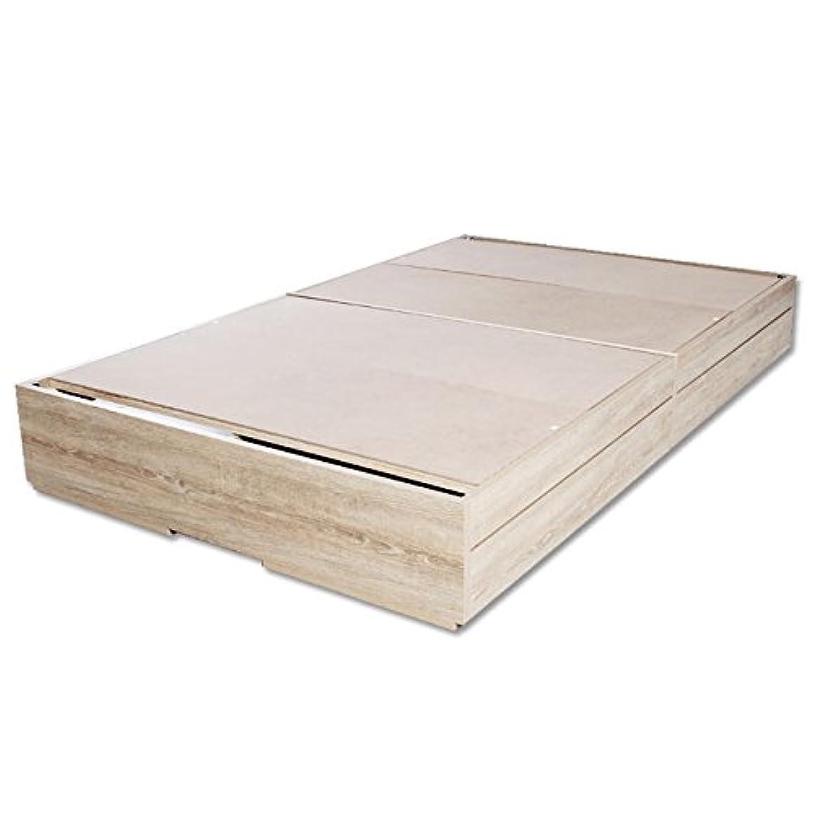 可塑性寂しいバスビックスリー 引出付ベッド ヘッドレスベッドベッドフレーム S/フレームのみ ビンテージオーク