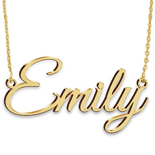 Name Necklace Silver-Handmade Necklace-Personalized Necklace