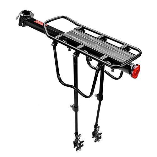 WUIIEN Rear Bike Rack Bicycle Cargo Rack Quick Release Alloy Carrier 110 Lb Capacity