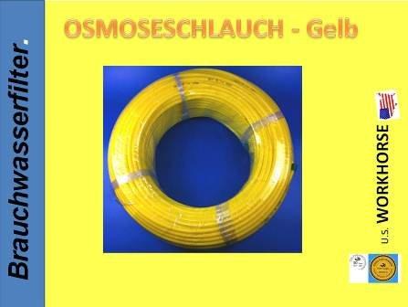 10 METER FREIE FARBWAHL Stück, Side by Side, Kühlschrankschlauch, 6 mm Wasserschlauch WEISS, GELB, BLAU, ROT - IHRE WAHL 1/4 Zoll (6mm) für Side by Side Kühlschrank, Kühlschrankschlauch, 10 m am Stück, Wasserfilter, Osmoseschlauch (Gelb)