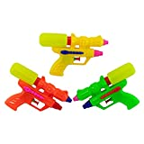 Giggle Time Large Double Shot Squirt Gun Tank Assortment - (12) Pieces - Assorted Bright Colors - for Kids, Boys and Girls, Party Favors, Pinata Stuffers, Children's Gift Bags, Carnival Prizes
