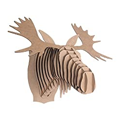 Cardboard moose unique gift idea first year anniversary traditional paper gift