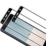 TOCYORIC Protector de Pantalla para Sony Xperia XZ2 Compact [2 Pack] [3D Curvo Full Cover] Cristal Templado [9H Dureza][Sin Burbujas] [Alta Definición] Vidrio Templado para Sony Xperia XZ2 Compact