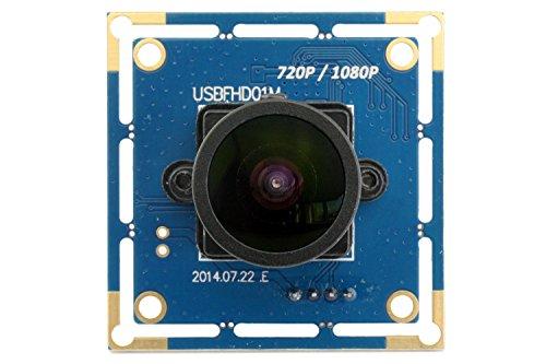 SVPRO Webcam Wide Angle 170 Degree Fisheye Lens Camera USB Full HD 1080P 30fps Web Camera for Linux/Windows/Android (170 Degree megapixel fisheye Lens)