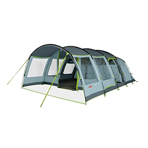 COLEMAN Meadowood 6 Person Large Tent with Blackout Bedrooms, Blue, One Size