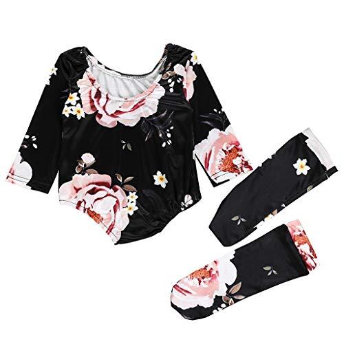 YWLINK ♥Mono De Bebe NiñA Verano 2PC Conjuntos Mono Estampado Floral Traje...