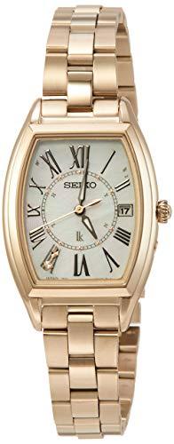 [セイコーウォッチ] 腕時計 ルキア Lady Gold ソーラー電波 チタンモデル トノー型 ダイヤ入り白蝶貝文字盤 サファイアガラス 日常生活用強化防水(10気圧) SSQW046 レディース ゴールド