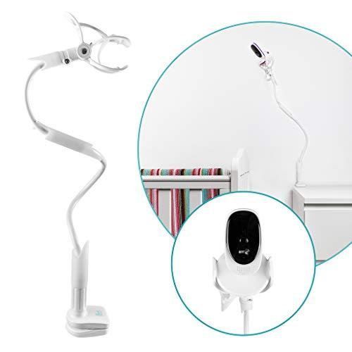Flexi Twist | Supporto universale per baby monitor | Cinghie di sicurezza e morsetto per mobili | Nessuna perforazione richiesta | Supporto flessibile per videocamera per bambini
