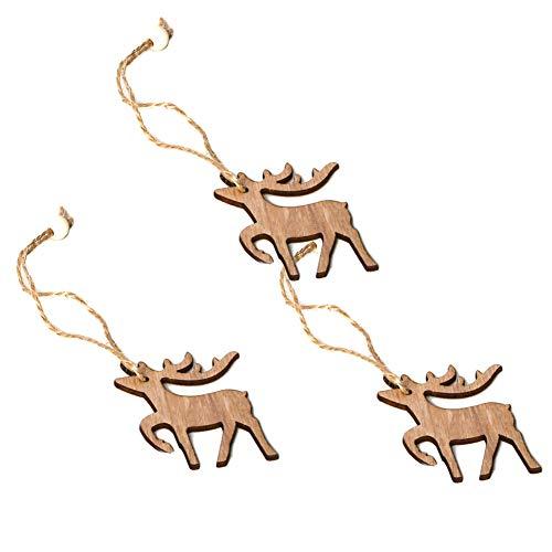 TankMR 3 stuks kerstboom hangend ornamenten hanger voor feestdag, accessoires om op te hangen DIY venster decoratie party cadeau 3 pièces Jm01579