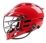 Cascade CS-R Lacrosse Helmet (Red Shell/Silver Facemask)