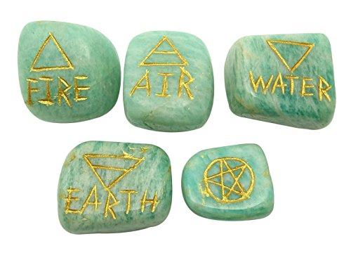 Harmonize Los Cuartos Conjunto AmazonitaDe 5 Generador Curativo De Piedra Espiritual De Energa