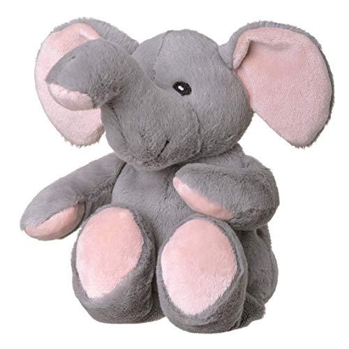 welliebellies Midi Wärmekuscheltier für Kinder - Wärmekissen gegen Schmerzen und zum Wohlfühlen - Wohltuender Kräuterduft durch Rosmarin und Lavendel, Eukalyptus & Pfefferminz - Elefant