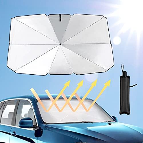 Parasol del Parabrisas del Coche,Paraguas Visera Plegable para Parabrisas Delantero,UV Reflectante Protector de Polvo,Sombrilla de Bloque de Protección Contra Rayos Automotriz,por a Varios,Tamaños L