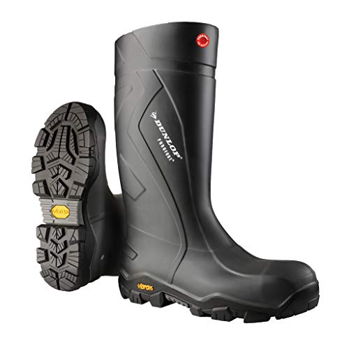 Dunlop Protective Footwear EC02A3311 Purofort Expander Full Safety Boots with Slip-Resistant Vibram Rubber Sole and Steel Toe, 100% Waterproof, Lightweight and Durable Protective Footwear, Size 11
