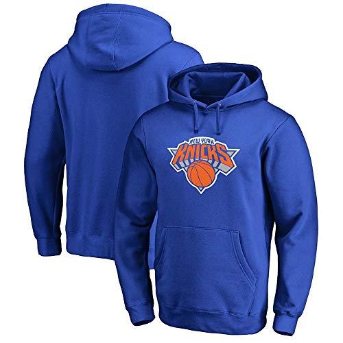BMSD Hoodies Jersey NBA New York Knicks Jersey Azul Sport Jersey Hombres Baloncesto Uniforme de Manga Larga, XL