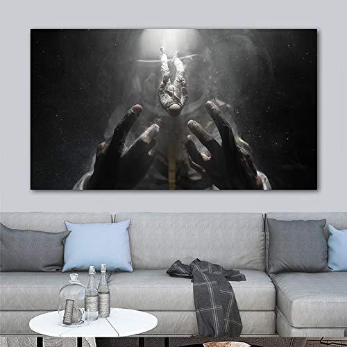 Geiqianjiumai Abstrakte Schule Astronaut Raumfahrer Plakat Leinwand Malerei Wandbild Wohnzimmer Moderne Dekoration rahmenlose Malerei 60x100cm