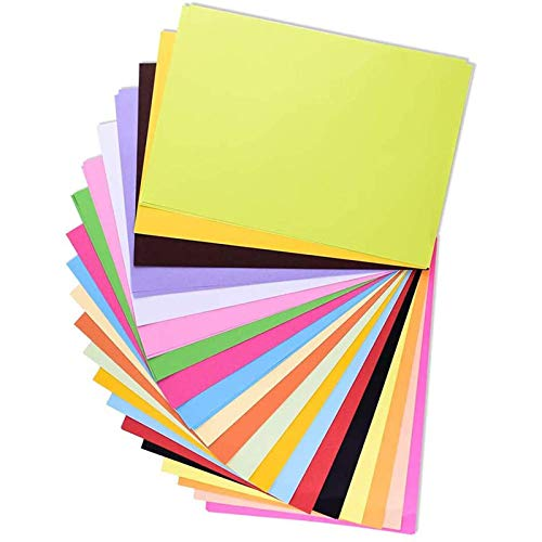 100 hojas de papel de origami A4 color para manualidades y manualidades colores