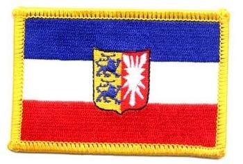 Flaggen Aufnäher Patch Schleswig - Holstein Wappen NEU