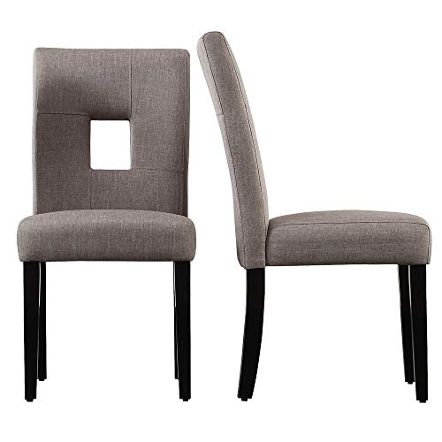 Inspire Q Mendoza Keyhole Back Dining Chairs (Set of two) by Bold Grey