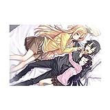 HQHQH Sword Art Online Asuna Yuuki, Kirito, Yui Rompecabezas de Madera de Anime Rompecabezas de Juegos de Juguete de descompresión Familiar (500pcs)