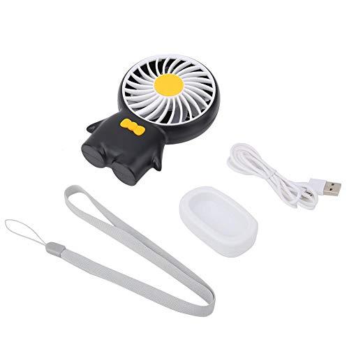 eecoo USB-ventilator, draagbare mini-handventilator, stille desktopventilator, windverstelling met 3 versnellingen, persoonlijke ventilator met sleutelkoord, geschikt voor outdoor-sport, winkelen en reizen
