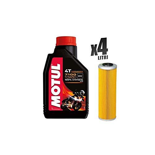 Kit Tagliando moto 4 litri olio Motul 7100 10W50 + filtro 650
