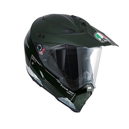 AGV Casco Moto Ax-8 Dual Evo E05 Multi, Wild Frontier Military Green/White, XL
