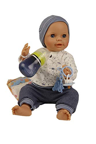 Schildkröt 1440789 Puppe Trink-und Näßbaby Finn Malhaar