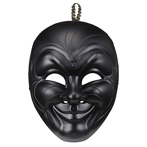 Widmann 04718 masker zwart man, Unica
