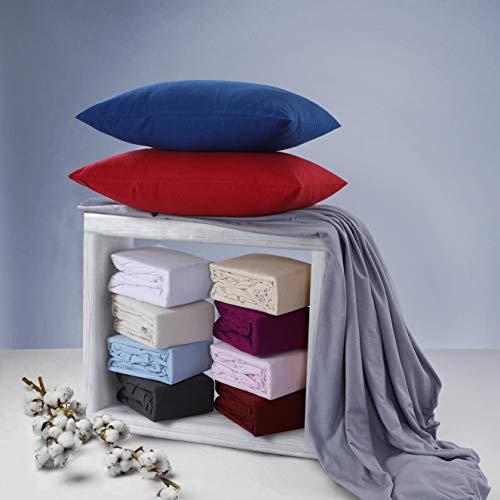 Bed Couture - Flanelle Fleece Drap Housse 100% en Flanelle De Cotton la Plus Douce, Rabat de 30cm. Toucher velouté, Pelucheux & Chaud - Bleu Gris 160x200 cm