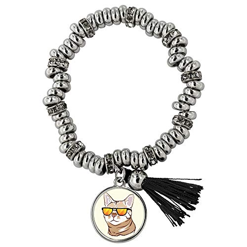 Bengal Funny Cat Jewelry Bracelet for Women Girls (Piper), Cute Sunglasses Gifts 9187A