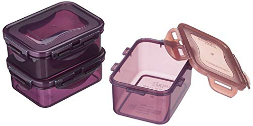 LOCK & LOCK Lebensmittelbehälter, Polypropylen, Multi, 2 x 350ml, 1 x 470ml