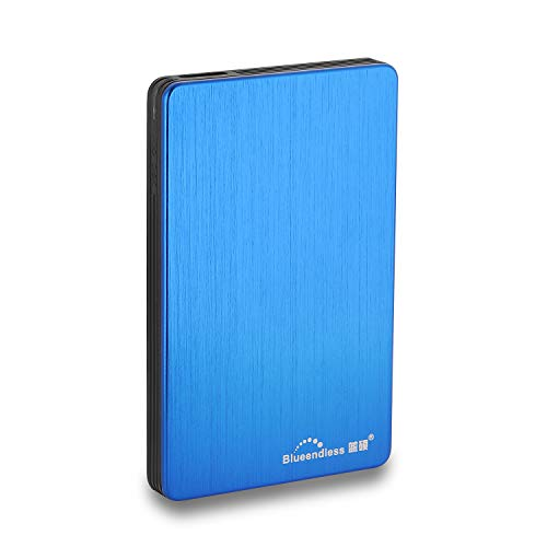 Blueendless Externe Festplatte, USB 3.0, 6,35 cm (2,5 Zoll), für PC, Laptop, Computer (320 GB, blau)
