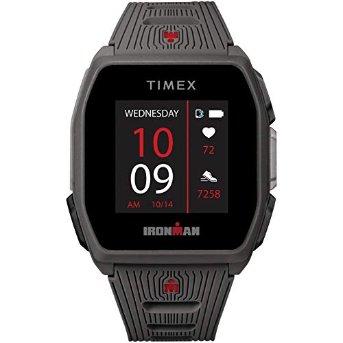 TIMEX IRONMAN R300 GPS Smartwatch with Heart Rate 41mm – Dark Gray with Silicone Strap