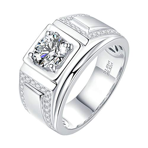 Aimsie Women's Ring Four Claw Wedding Rings Woman 18 Carat (750) White Gold Moissanite Gold Rings Engagement Golden Ring Ladies silver