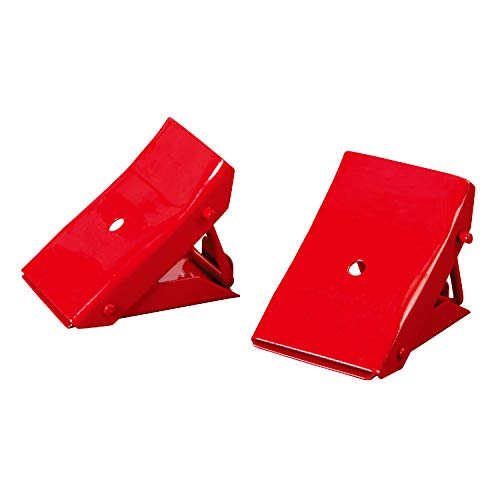 BIG RED TD3553 Torin Steel Safety Wheel Chock: Foldable Tire Stop, 1 Pair