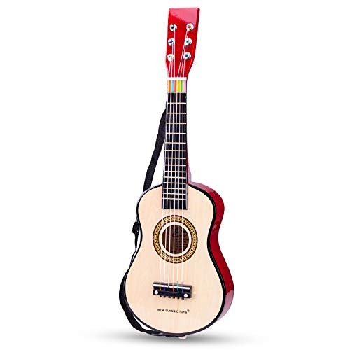 New Classic Toys New Classic Toys-10344 0344-Guitarra de Juguete, Natural, Color Naturel...